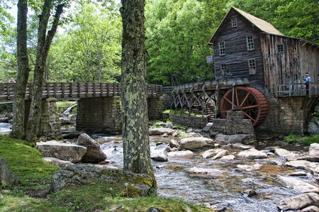 Glade Creek Grist Mill in Babcock State Park West Virginia USA