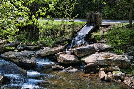 west virginia trees: West Virginia,Babcock,Brenda Kean,National Park,State Park,river,hills,trees,flour, mill,waterwheel,wooden,building,stream,rocks,flour,Glade Creek Grist Mill