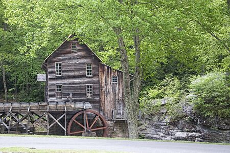 glade: Glade Creek Grist Mill in Babcock State Park West Virginia USA