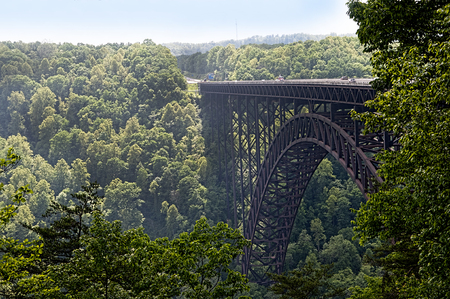 west river: New River Gorge Bridge in Babcock State Park West Virginia USA