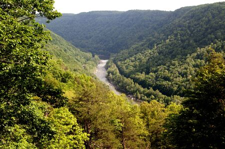 west river: New River Gorge in Babcock State Park West Virginia USA