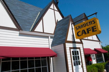 memorabilia: The original Kentucky Fried Chicken Cafe in Corbin Kentucky USA