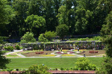 asheville: Garden at the Biltmore Estate a large private estate and tourist attraction in Asheville, North Carolina. Stock Photo