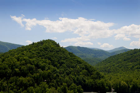newfound gap: Views from the Blue Ridge Parkway In Virginia USA