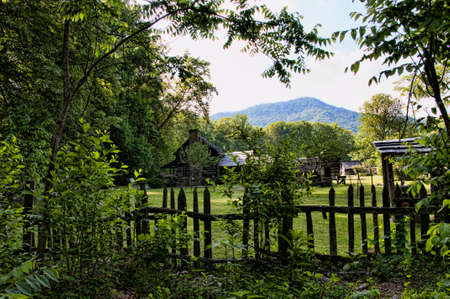 newfound gap: Visitor centre for the Great Smokey Mountains National Park USA Stock Photo