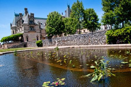 Garden at the Biltmore Estate a large private estate and tourist attraction in Asheville, North Carolina. Editorial