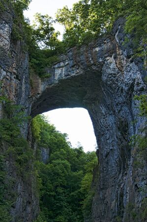 geological formation: The Natural Bridge in Rockbridge County, Virginia, once owned by Thomas Jefferson, is a geological formation in which Cedar Creek  has carved out a gorge