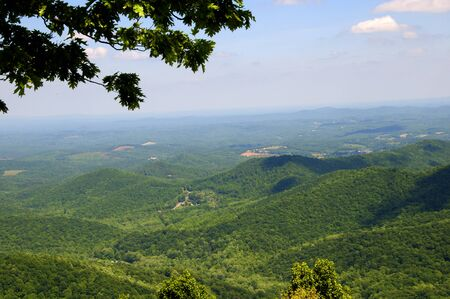 appalachian trail: Shenandoah Valley Part of the Appalachian Trail through the Smokey Mountains USA