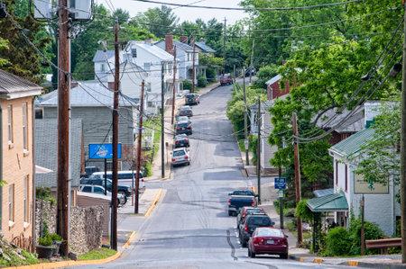 main street: Main Street in Lexington Virginia USA