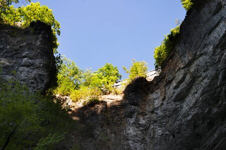 brenda kean: The Natural Bridge in Rockbridge County, Virginia, once owned by Thomas Jefferson, is a geological formation in which Cedar Creek  has carved out a gorge