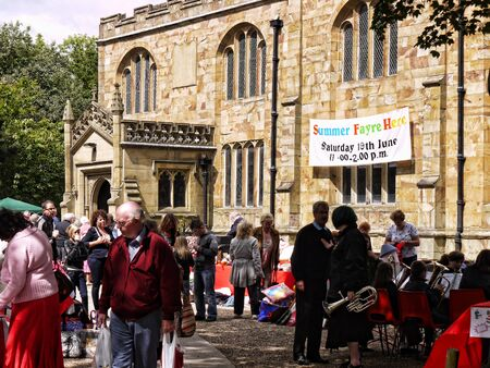 burnley: Summer Fete at the Parish Church of St Peter in Burnley Lancashire