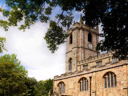 lancashire: the Parish Church of St Peter in Burnley Lancashire Editorial
