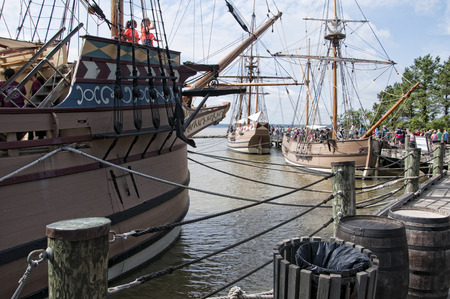 Historic Jamestown on the James River where the earliest European settlers established their first colony in Virginia USA