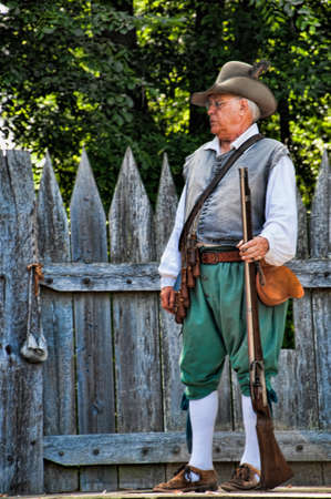 europeans: Historic Jamestown on the James River where the earliest European settlers established their first colony in Virginia USA