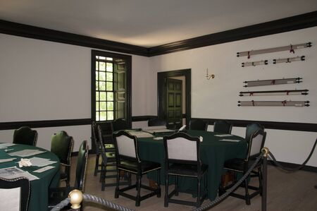 earliest: Governors Palace in Historic Colonial Williamsburg where the earliest European settlers established their first colony in Virginia USA