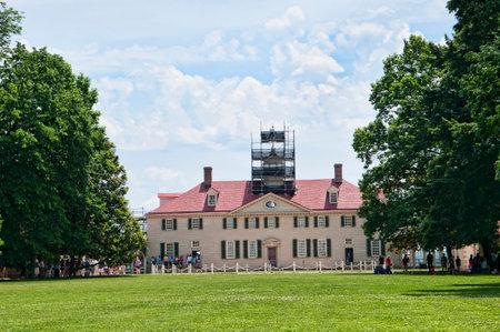 george washington: Mount Vernon fue el hogar de la plantación de George Washington, el primer presidente de los Estados Unidos. La finca está situada en las orillas del río Potomac en el condado de Fairfax, Virginia, Editorial