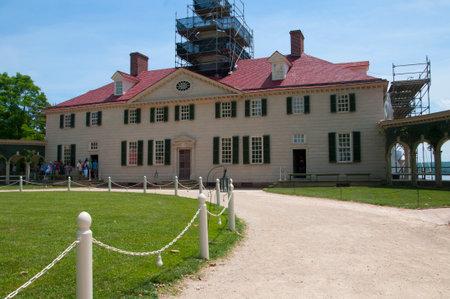 george washington: Mount Vernon fue el hogar de la plantaci�n de George Washington, el primer presidente de los Estados Unidos. La finca est� situada en las orillas del r�o Potomac en el condado de Fairfax, Virginia, Editorial