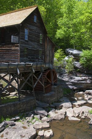 grist mill: Glade Creek Grist Mill in Babcock State Park West Virginia USA