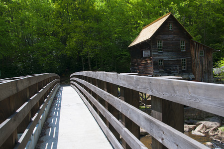 grist: Glade Creek Grist Mill in Babcock State Park West Virginia USA