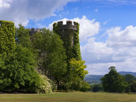 wales: Gardens  at Bodelwyddan Castle in North Wales Editorial