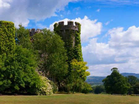 Gardens  at Bodelwyddan Castle in North Wales Editorial