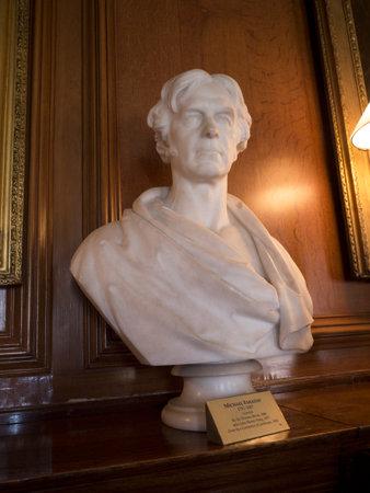 astronomer: Bust of Astronomer Sir John Herschel  Astronomer at Bodelwydann Castle North Wales Editorial