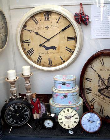 burnley: Display with Clocks in Burnley Lancashire