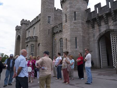 guided: Guided tour at Bodelwyddan Castle in North Wales