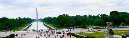 grecian: The obelisk at the Lincoln Memorial in Washington DC USA Editorial