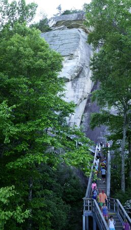 newest: One of NCs newest state parks, Chimney Rock brings the best of the mountains together in one place. Stand atop the 315 foot Chimney Rock Editorial