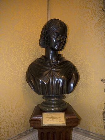 bust: Bust of  Florence Nightingale at Bodelwyddan Castle North Wales Editorial