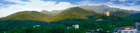 brenda kean: View of the Smokey Mountains from the Tower in Gatlinburg Tennessee USA