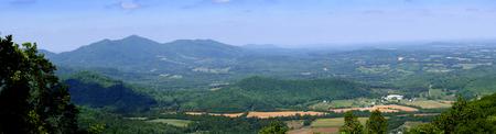 blue ridge mountains: The Blue Ridge Mountains and the Shenandoah Valley of Virginia USA
