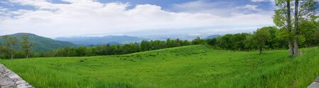 blue ridge mountains: The Blue Ridge Mountains and the Shenandoah Valley of Virginia USA