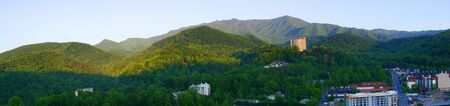 smokey: View of the Smokey Mountains from the Tower in Gatlinburg Tennessee USA