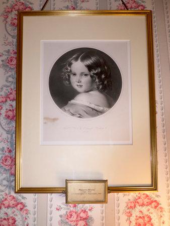 여왕 빅토리아 딸 헬레나의 초상화에서 북쪽 웨일즈의 Bodelwyddan 성