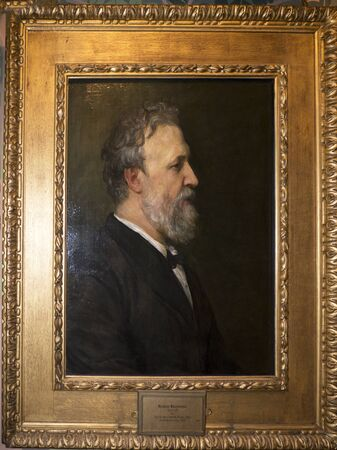 Portrait of the Poet Robert Browning at Bodelwyddan Castle in North Wales
