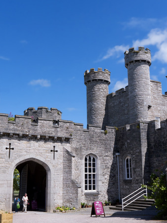 wales: Ramparts at Bodelwyddan Castle in North Wales
