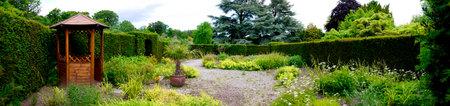 brenda kean: Gardens  at Bodelwyddan Castle in North Wales Editorial