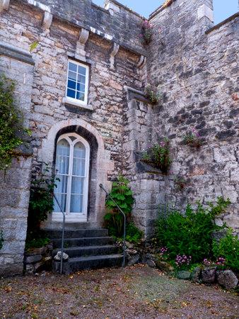 portcullis: Bodelwyddan Castle in North Wales