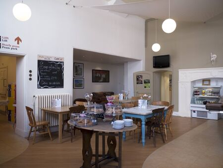 portcullis: Tearoom in Bodelwyddan Castle in North Wales Editorial