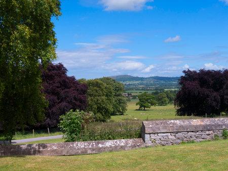 portcullis: Gardens  at Bodelwyddan Castle in North Wales Editorial