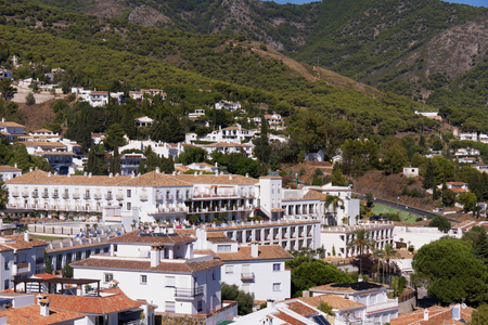house donkey: Mijas is one of the most beautiful white villages of the Southern Spain area called Andalucia. It is in the Alpujarra mountains above the coast