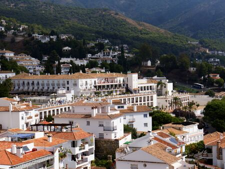alpujarra: Mijas is one of the most beautiful white villages of the Southern Spain area called Andalucia. It is in the Alpujarra mountains above the coast