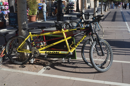 seater: Double set of two seater Tandem Bicycles in Marbella on the Costa del Sol Spain