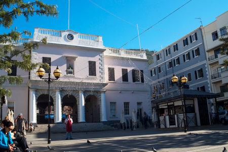mackintosh: John Mackintosh building on the Rock of Gibraltar at the entrance to the Mediterranean Sea