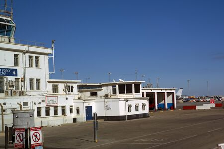 garrison: Airport on the Rock of Gibraltar at the entrance to the Mediterranean Sea
