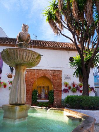 Plaza de Naranjas, Plaza de los Naranjos en el Estilista Ciudad de Marbella en la Costa del Sol España Foto de archivo - 49980307