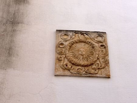 old town: Plaque in Old Town of Marbella Spain Stock Photo