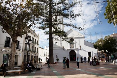 balcon: the Church of El Salvador is situated opposite the Balcon de Europa in Nerja Spain